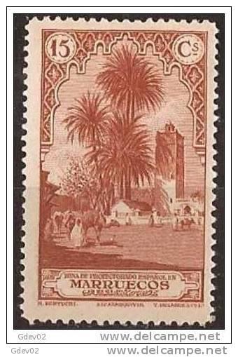 MA109-LA912TAo.Maroc.Maocco.MARRUECOS ESPAÑOL PAISAJES Y MONUMENTOS 1928  (Ed 109**) Sin Charnela LUJO RARO - Sellos