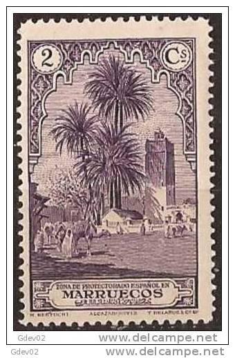 MA106-LA909TAMO.Maroc.Marocco  MARRUECOS ESPAÑOL PAISAJES Y MONUMENTOS 1928  (Ed 106**) Sin Charnela LUJO RARO - Sellos