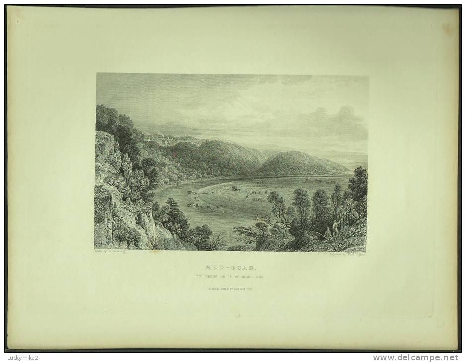 "An 1832 Engraving Of ""Red Scar (Preston)"" By 'Thos. Higham'. - Prints & Engravings"