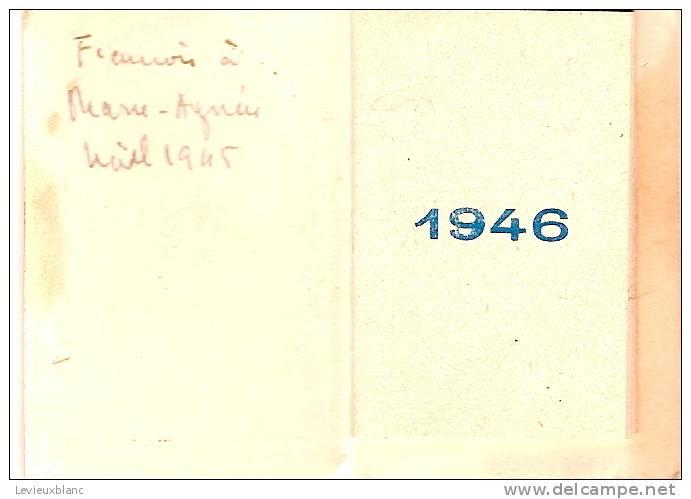 Petit Calendrier  De Poche/Jésus Enfant/ Paris/ 1946   CAL109 - Calendriers