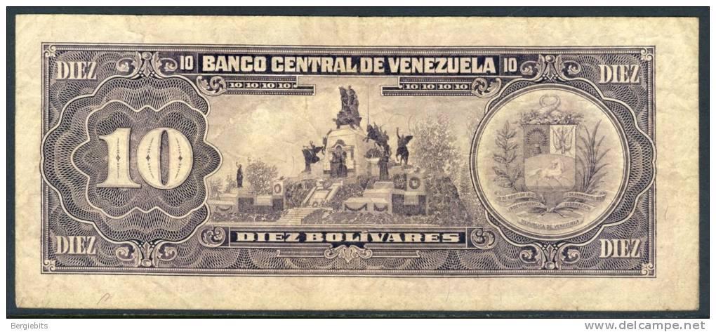 1986 Venezuela 10 Bolivares Banknote In Good Circulated Condition - Venezuela
