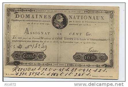 Domaines Nationaux - Asssignat De Cent Liv. - Monnaies (représentations)