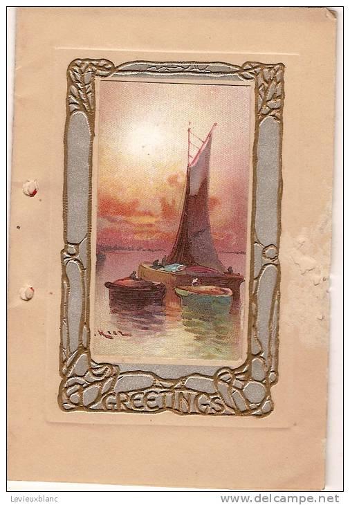 """Carte De Voeux/""""Greetings...""""/Voil Ier / Angleterre /vers 1935         CVE14 - Fiestas & Eventos"""