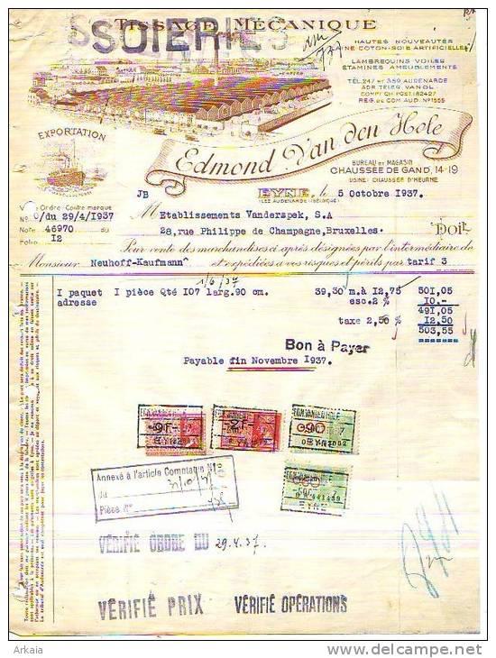 Eyne - 1937 - Edmond Van Den Hole - Tissage Mécanique - Soieries - Belgique