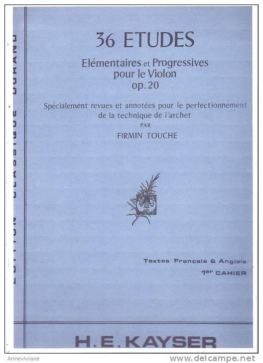 36 Etudes élémentaires Et Progressives Pour Le Violon Op. 20 - Partitions Musicales Anciennes