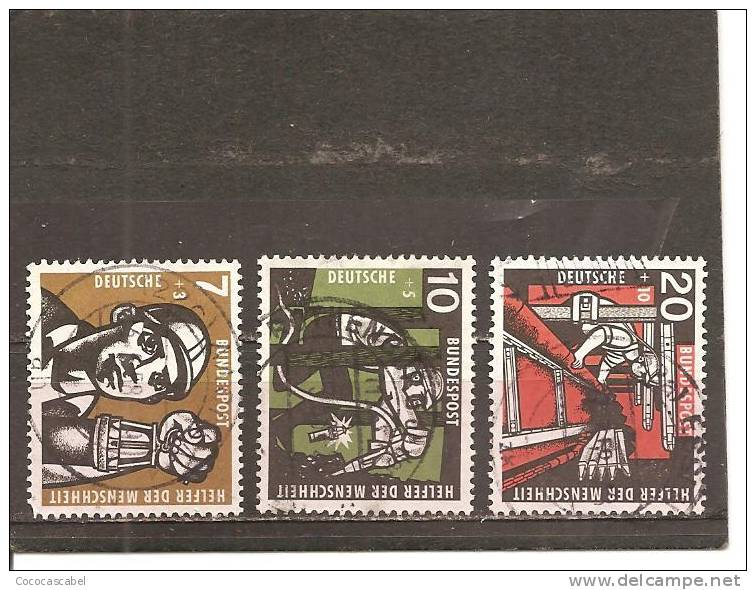 Alemania-Germany Nº Yvert 142-44 (usado) (o) - [7] República Federal