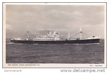 SHIPPING - S.S. SALINAS. PACIFIC STEAM NAVIGATION CO - Steamers