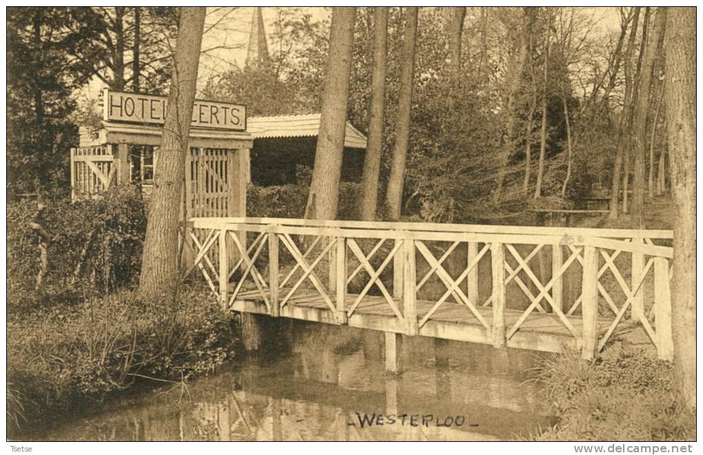 Westerloo - Brug En Ingang Van Den Hof Hotel Geerts ( Verso Zien  ) - Westerlo