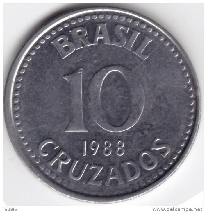 @Y@  Brazilië  10 Cruzados  1988  AUNC    (C267) - Brésil