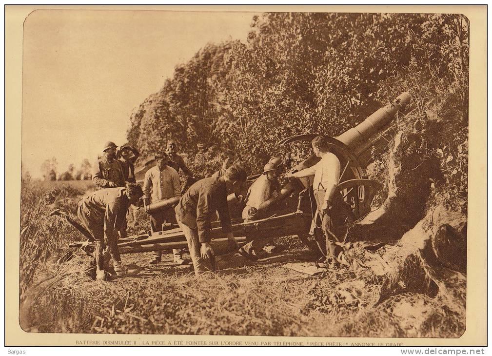 Planche Du Service Photo De L´armée Belge Guerre WW1 Militaire Canon Dissimulé Obus - Livres, Revues & Catalogues