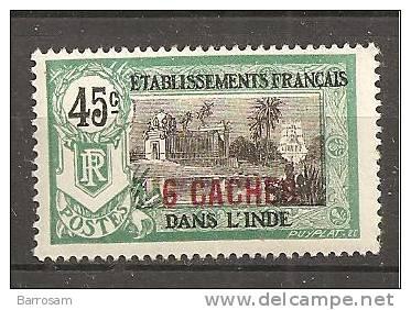 FrenchIndia1922: Yvert 64mnh** - India (1892-1954)