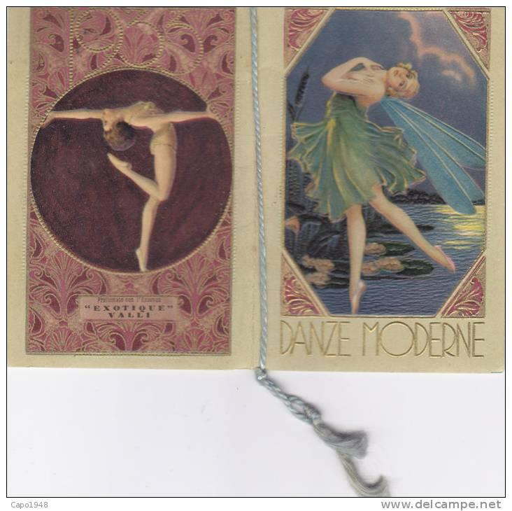 "CARD  CALENDARIETTO PROFUMATO ""EXOTIQUE"" DANZE MODERNE "" VALLI MILANO    1933      --2---0882-14976-975 - Calendars"