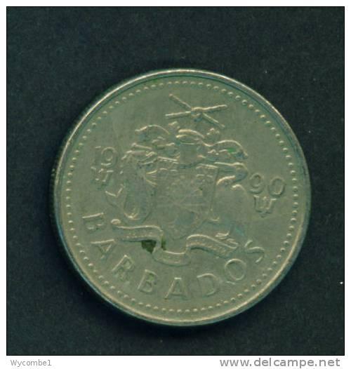 BARBADOS  -  1990  25 Cents  Circulated As Scan - Barbades