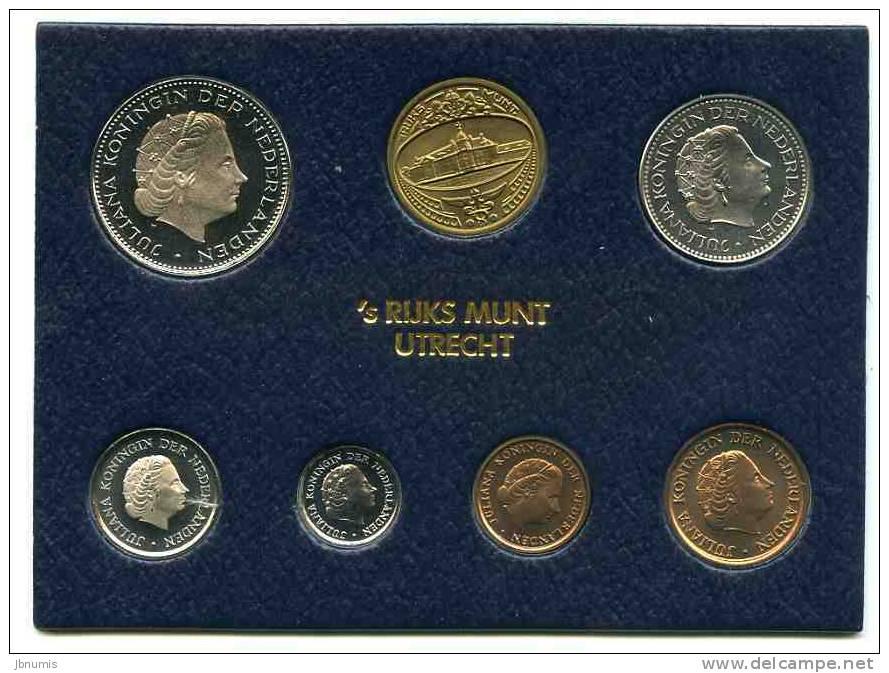 Pays-Bas Netherland Coffret Officiel BU 1 Cent à 2 1/2 Gulden 1980 + Jeton KM SS12 - Pays-Bas
