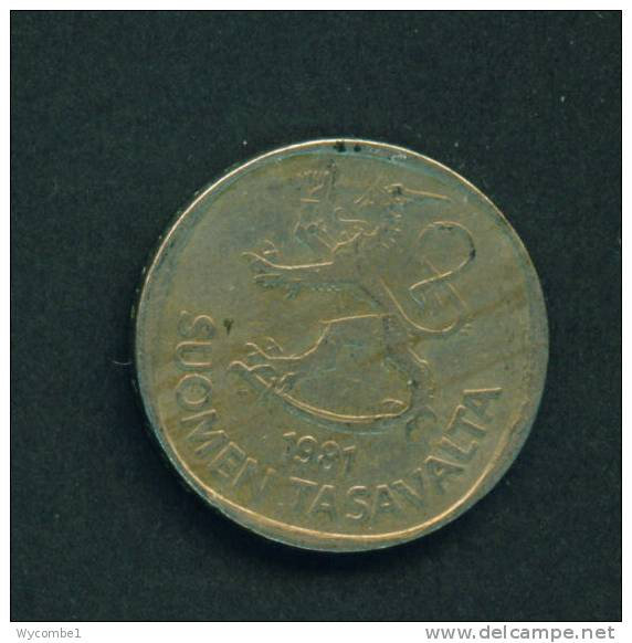 FINLAND  -  1981  1 Markka  Circulated As Scan - Finland