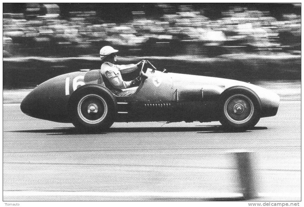 Dr Giuseppe Farina  -  Ferrari   -  Silverstone  -  1952  -  Real Photo Postcard - Sport Automobile