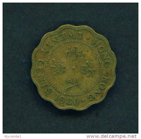 HONG KONG  -  1988  20 Cents  Circulated As Scan - Hong Kong