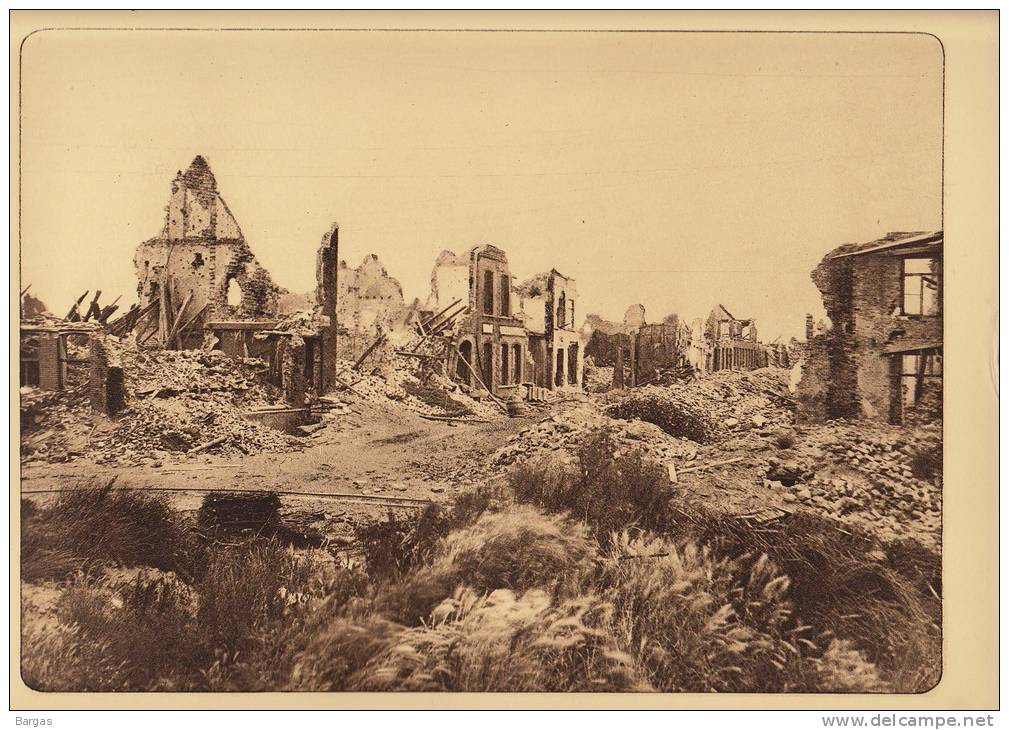Planche Du Service Photographique Armée Belge Guerre 14-18 WW1 Ruine Place De La Gare à Nieuport - Libri, Riviste & Cataloghi
