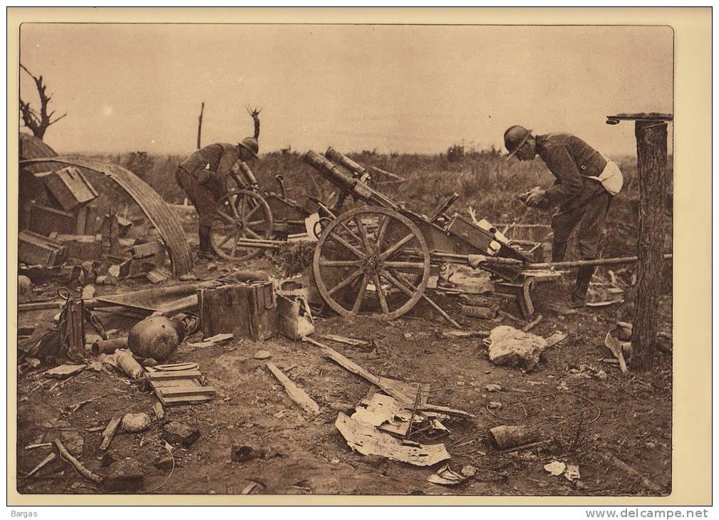 Planche Du Service Photographique Armée Belge Guerre 14-18 WW1 Militaire Canon Artillerie Abandonnée Par Les Allemands - Livres, Revues & Catalogues