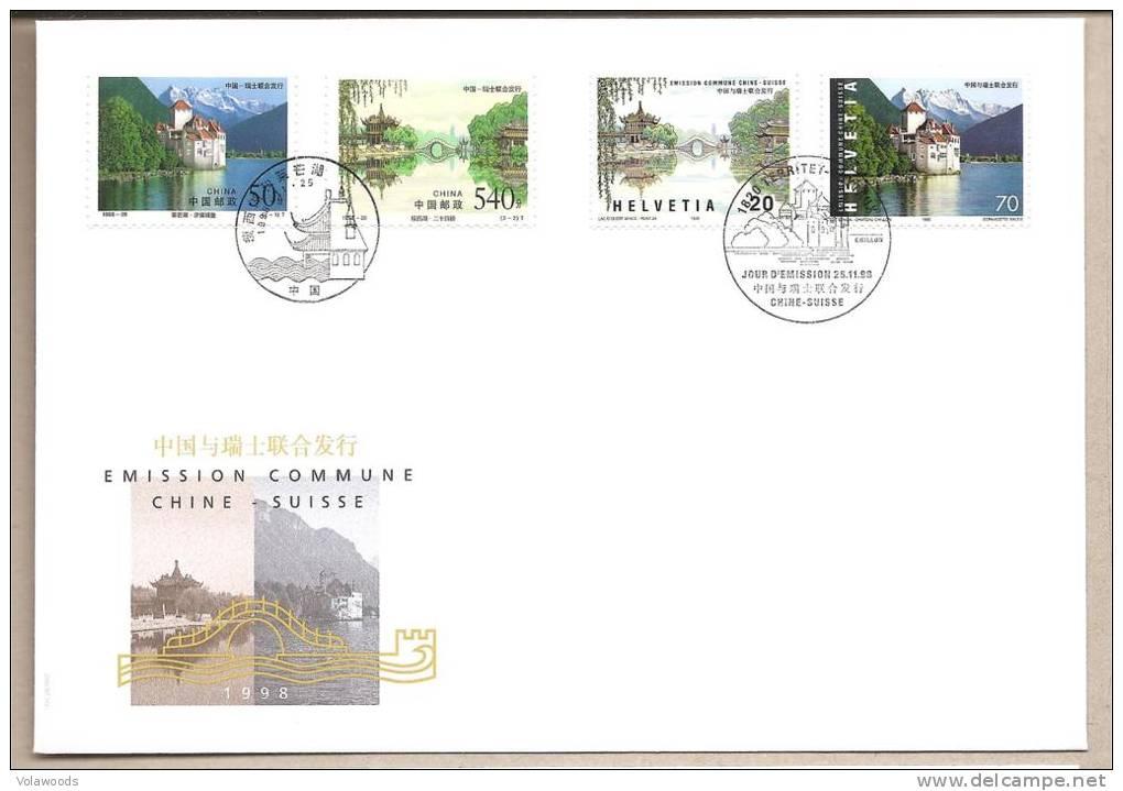 Svizzera/Cina - Busta FDC Emissione Comune: 1998 - 1990-99