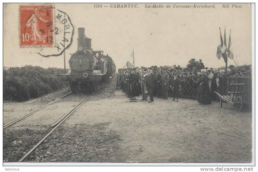 Carantec Près De Morlaix Bretagne La Halte De Carantec Kerichard  Train - Carantec