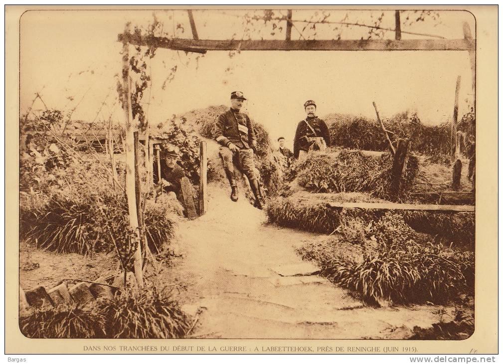 Planche Du Service Photographique Armée Belge Guerre 14-18 WW1 Militaire Abri Labeettehoek Reninghe - Altri