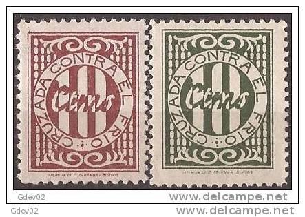 CCF16-LM31TAN.España .Spain.BENEFICENCIA.CRUZA DA   CONTRA EL FRIO.1937. (Galvez 16/7**) Sin Charnela .MAGNIFICA - 1931-50 Nuevos & Fijasellos
