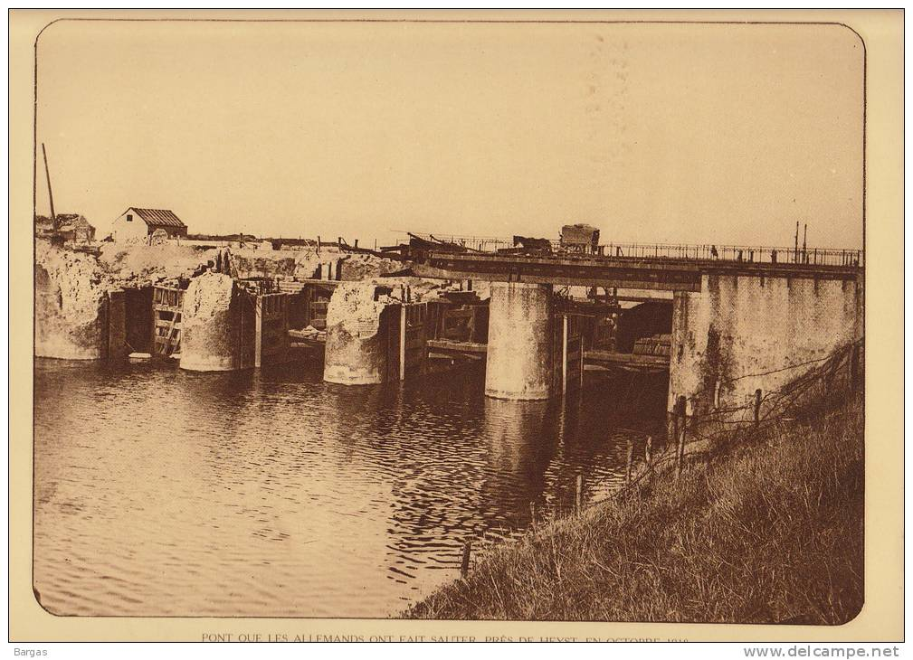 Planche Du Service Photographique Armée Belge Guerre 14-18 WW1 Heyst Pont Sabote Par Les Allemands - Livres, Revues & Catalogues