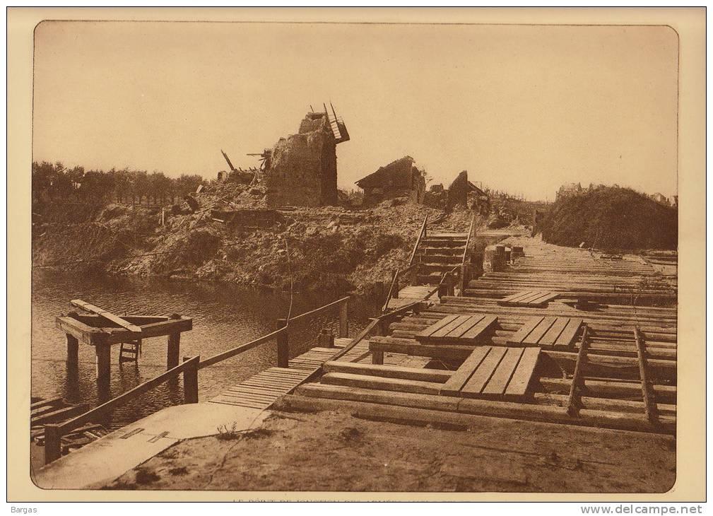 Planche Du Service Photographique Armée Belge Guerre 14-18 WW1 Pont De Jonction Anglo Belge - Libri, Riviste & Cataloghi