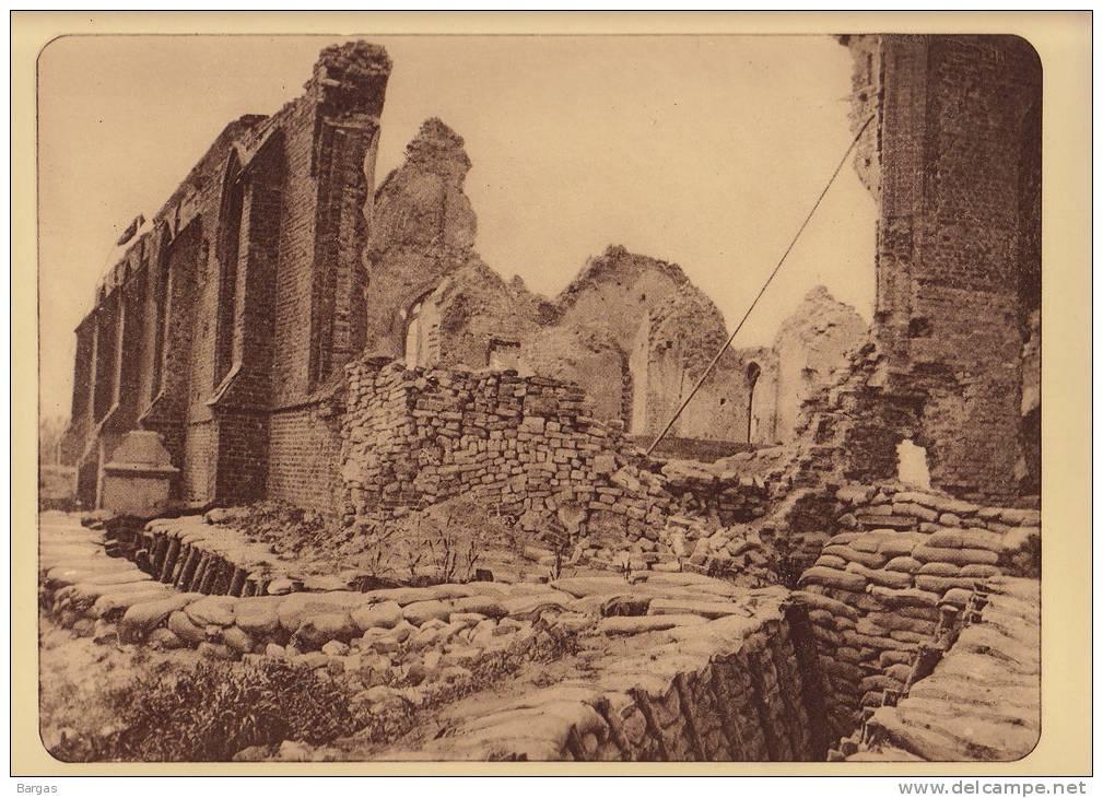 Planche Du Service Photographique Armée Belge Guerre 14-18 WW1 Ruine Eglise De Nieuwcappelle - Livres, Revues & Catalogues