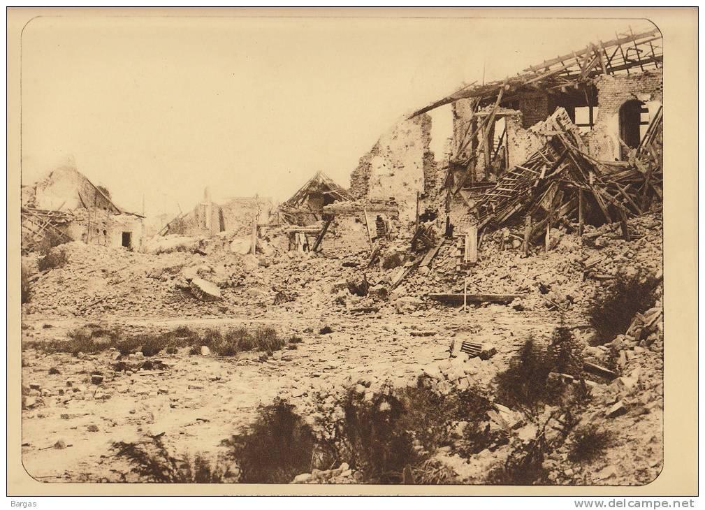Planche Du Service Photographique Armée Belge Guerre 14-18 WW1 Ruine Les Moins éprouvées De Dixmude - Livres, Revues & Catalogues