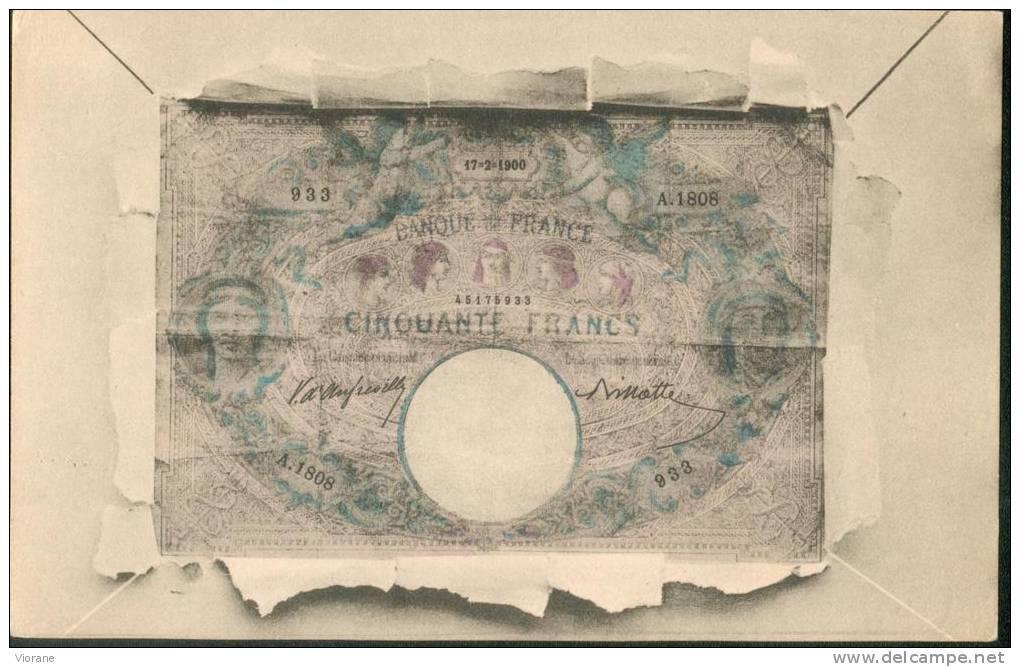 Billet   Français De 50 Fr - Monnaies (représentations)