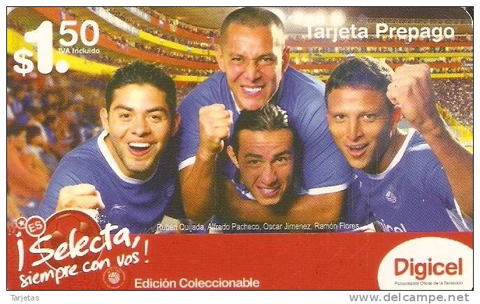 TARJETA DE EL SALVADOR DE FUTBOL SELECION NACIONAL (FOOTBALL) - El Salvador