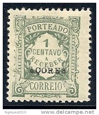 130100384 AZOR C.P.  YVERT  TAXE   Nº  22/23/24/25/26  *   MH - Azores