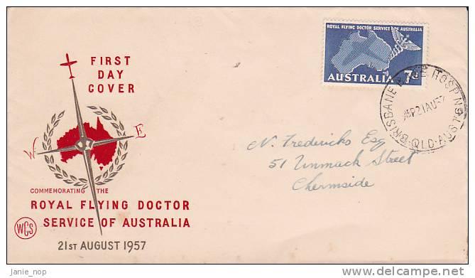 Australia 1957 Royal Flying Doctor Wesley FDC - FDC