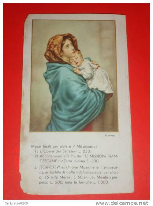 Calendarietto 1953 S.ANTONIO D.Padova /Madonna Del RIPOSO - Ferruzzi - Santino Missioni Francescane-Alinari Bonetti - Calendriers