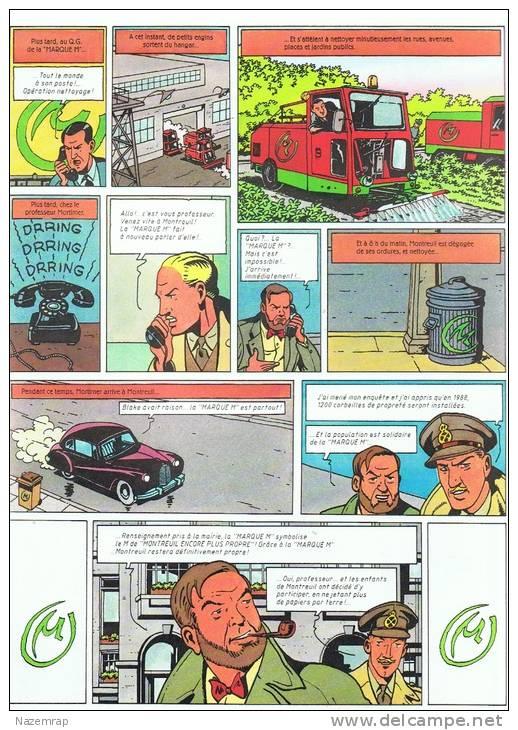Mystère à Montreuil. Une Enquête De Blake Et Mortimer. 1987, Bob De Moor, Dépliant 4 Pages - Blake Et Mortimer