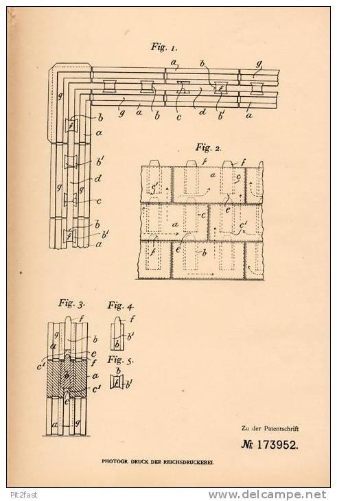 Original Patentschrift - J. Stidder In Brockley , London ,1904 , Hohlwand Aus Platten , Architecture !!! - Architecture