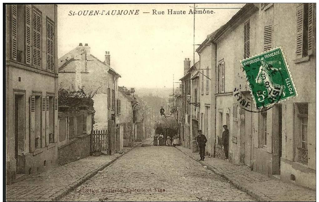 95 - CPA - SAINT OUEN L'AUMONE - RUE HAUTE AUMONE - ANIMATION - Saint Ouen L'Aumone