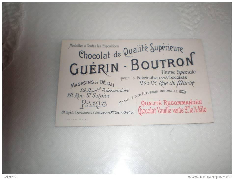 Chromo Chocolat Guérin Boutron Explorateur Adjudant Prat, Serie Explorateurs, Exposition Universelle 1889 - Guérin-Boutron