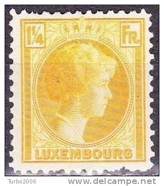 1930 Grossherzogin Charlotte 1 1/4 Fr. Dunkelgelb Mit Falz Michel 225 - 1926-39 Charlotte Rechterzijde
