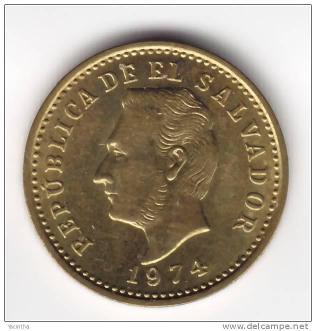 @Y@   EL SALVADOR  2 Centavos  1974 Unc    (C551) - Salvador