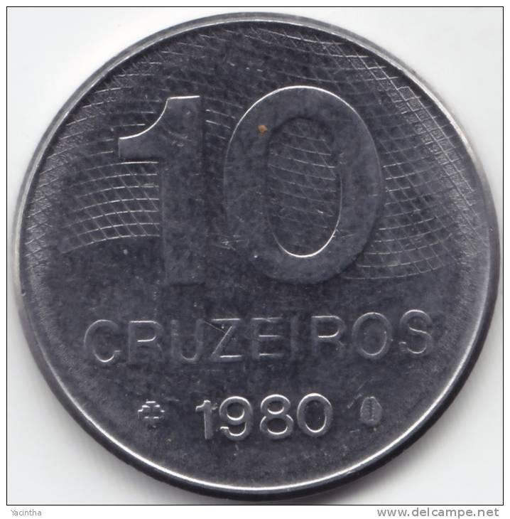 @Y@   Brazilië 10 Cruzeiros 1980  AUNC         (C610) - Brésil