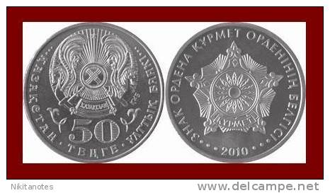 KAZAKHSTAN 50 TENGE ★ ORDER OF RESPECT 2010 ★ MINT UNC - Kazachstan