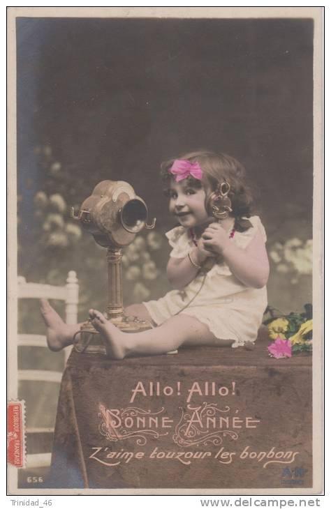 TELEPHONE CARTE FANTAISIE HUMOUR  1907 - Cartes Postales