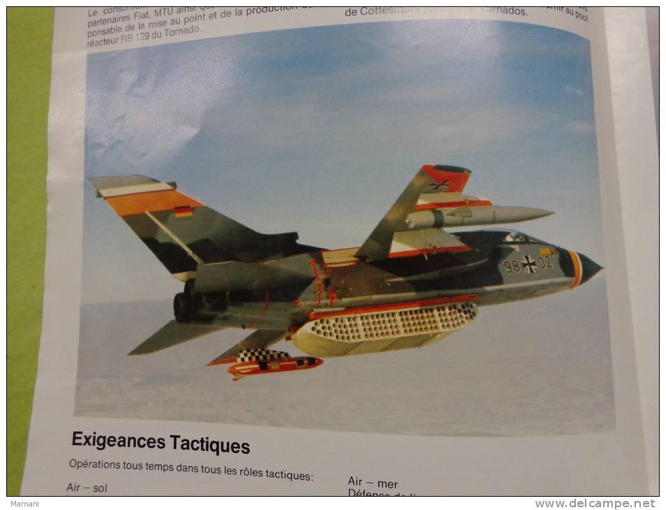 4 Feuillets Solidaires +2 Feuillets Solidaires -tornado Cockpit- - Planches & Plans Techniques