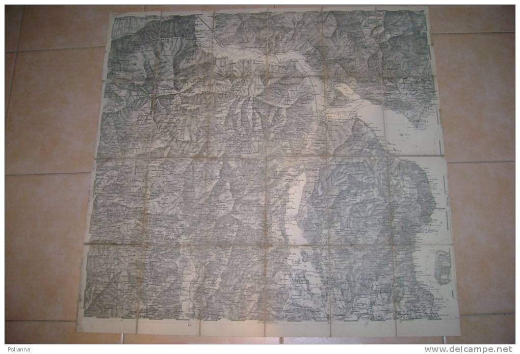PFC/32 CARTINA TELATA - OSSOLA-VALSESIA-LAGO MAGGIORE-ARONA Primo ´900/MAP - Carte Geographique