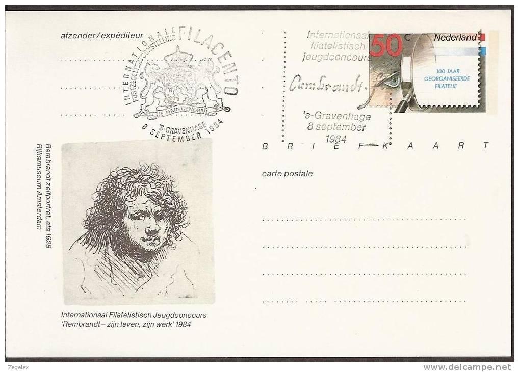 Briefkaart 1984 Geuzendam Nr 309 Rembrandt - Postal Stationery