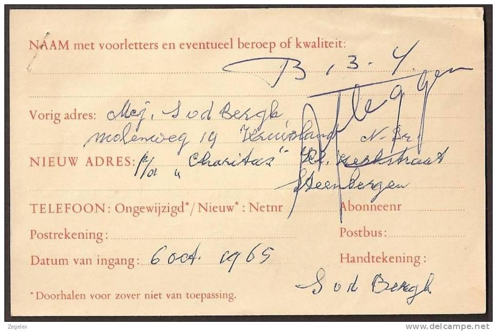 Verhuiskaart 1964 Geuzendam Nr 27 Met Bijfrankering - Postal Stationery