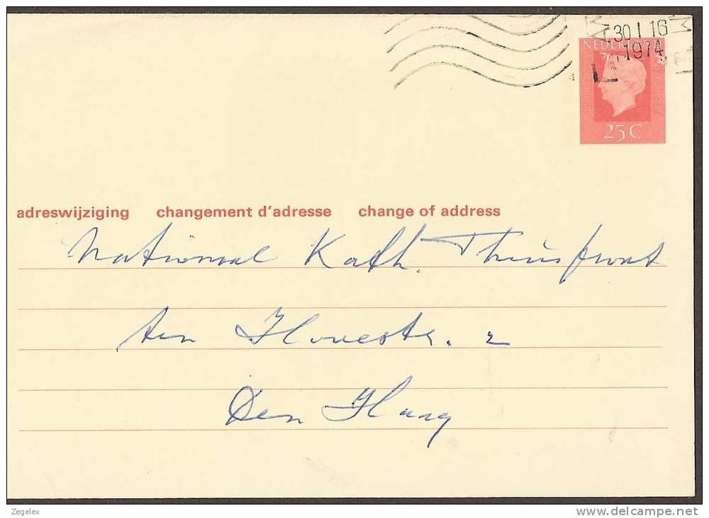 Verhuiskaart 1972 Geuzendam Nr 35 - Postal Stationery